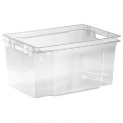 ALLIBERT Boîte de rangement transparent Crownest - Empilable