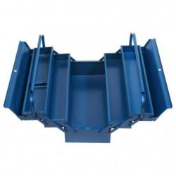 TEC HIT Caisse outils vide 5 compartiments métal