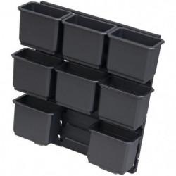 KS TOOLS Lot d'inserts pour boite de transport SCM, 9 pieces