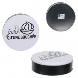 TOTALLY ADDICT Boîte a confiseries ronde - Métal