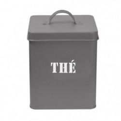 FRANDIS Boîte a thé carrée en métal - 12 x 12 x 16,5 cm - Gr