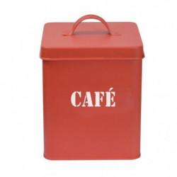 FRANDIS Boîte a café - carrée en méta - 12 x 12 x 16,5 cm -