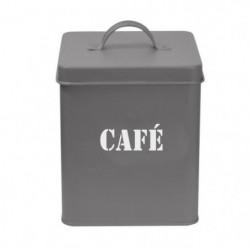 FRANDIS Boîte a café carrée en métal - Gris mat
