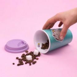THUMBS UP ! Pusheen - Tasse en céramique avec couvercle en s