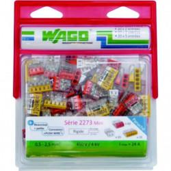 WAGO Pack de 100 bornes 2273 20 x 2 entrées + 60 x 3 entrées