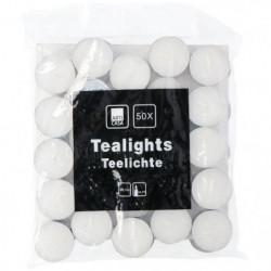 Bougies chauffe-plat rondes - 50 pieces - Ø 3,7 x H 1,3 cm -