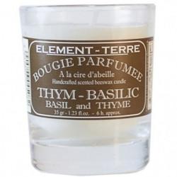 ELEMENT-TERRE Bougie Parfumée Thym Basilic - 35 g