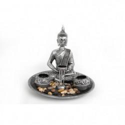 3 Portes-chauffe-plats bouddha avec bijoux - Argenté