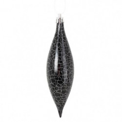 Lot de 4 Suspensions de Noël Glaçon en PVC - 5 cm - Noir