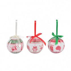 Set de 14 boules de Noël PVC - Neige brillant et multicolore