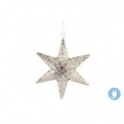 Étoile de Noël suspendu mat en acier 46 x10 x46 cm