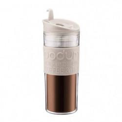 BODUM TRAVEL PRESS Mug de voyage 0,45L blanc creme