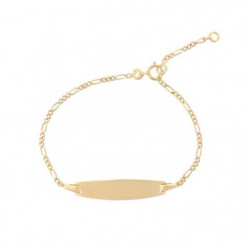 Bracelet Identite Or Jaune 375/1000