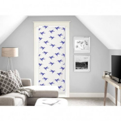 SOLEIL D'OCRE Brise bise Colibri - 70x200 cm - Bleu