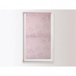 SOLEIL D'OCRE Brise bise en dévoré Fleur - 45 x 90 cm - Rose