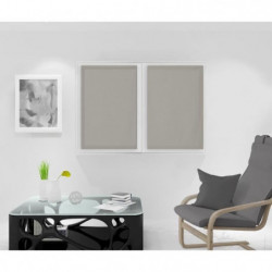 SOLEIL D'OCRE Paire de Brise bise Noémie - 60 x 90 cm - Taup