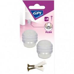 GPI Butée de porte Sol anneaux élastique - Transparent