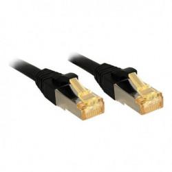 LINDY Câble réseau CAT 7 Lsoh - Cuivre - 6000MHz - 3m - Noir