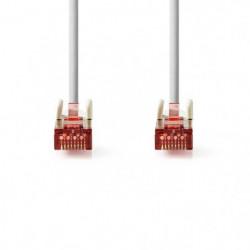 Cable Réseau Cat 6 S-FTP   RJ45 Male - RJ45 Male   10 m   Gr
