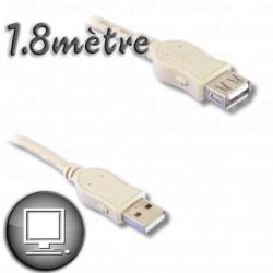 Câble Rallonge USB 2.0 à mâle / à femelle 1m80