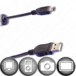Câble Mini USB B 5 contacts mâle / USB A mâle