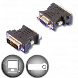 LINEAIRE AD270 Adaptateur DVI-I mâle / VGA femelle