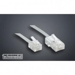 TECHNIMEDIA 9137TM62 Câble RJ11 M / RJ45 M - 3 m - Blanc