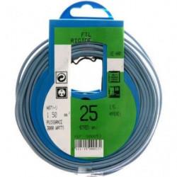 PROFIPLAST Couronne de câble 25 m HO7V-U 1,5 mm2 Bleu
