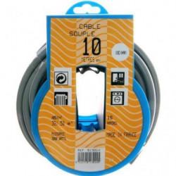 PROFIPLAST Couronne de câble 10 m HO5VVF 3G 1,5 mm2 Gris