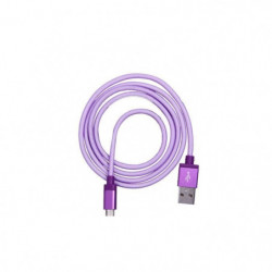 PLATYNE Câble USB pour Samsung Galaxy - 2A - Violet