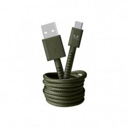 FRESH?N REBEL Câble Micro-USB Fabriq 1,5 m Vert armé