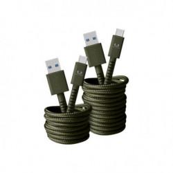 FRESH?N REBEL Câble USB Type-C Fabriq 1,5 m Vert armé