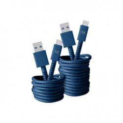 FRESH?N REBEL Câble USB Type-C Fabriq 1,5 m Indigo