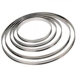DE BUYER Cercle a tarte - Inox - Ø 18 x H 2 cm - Tous feux d