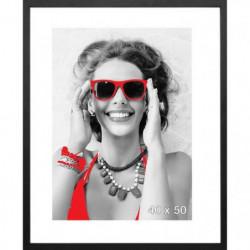 Cadre photo Sevilla - 40x50 - Noir - Moulure 15x15mm