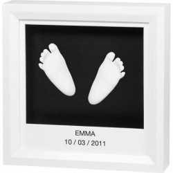Baby Art MY LITTLE STEPS Blanc - cadre empreinte 3D