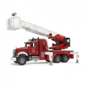 BRUDER 2821 Camion Pompier MACK Granit avec Echelle