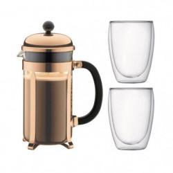 BODUM CHAMBORD Set cafetiere a piston - 8 tasses -  1L -Marr
