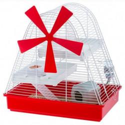 FERPLAST Cage Magic Mill 46x29,5x46,5 cm - Blanc - Pour hams