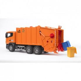 BRUDER - Camion Poubelle SCANIA R-serie orange - 62 cm
