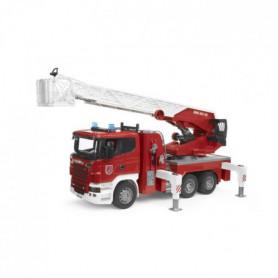 BRUDER - Camion pompier SCANIA R-serie, avec échelle, pompe a eau