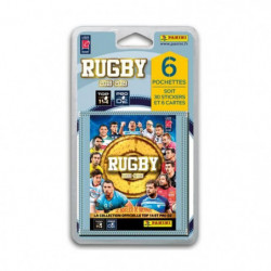 RUGBY 2018 2019 Stickers - Blister de 6 pochettes