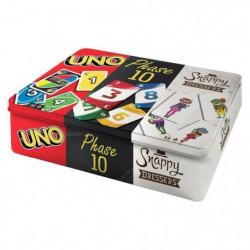 MATTEL GAMES - Coffret Multicartes - 3 Jeux de Cartes Famill