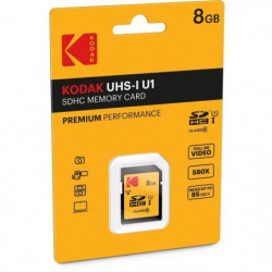 KODAK UHS1 U1 Premium Carte mémoire SDHC - 8 GB