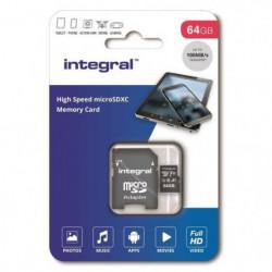 INTEGRAL MEMORY Micro SDXC 64GB Haute Vitesse 100MB/s de vit