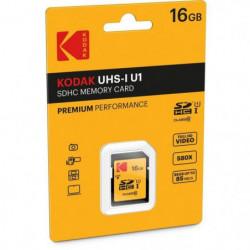 KODAK UHS1 U1 Premium Carte mémoire SDHC - 16 GB