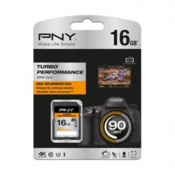 PNY Turbo Performance Carte Mémoire SDHC 16 Go Classe 10