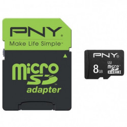 PNY Performance Carte mémoire Micro SDHC 8 Go Classe 10 - 20