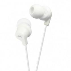 JVC HA-FX10 Écouteurs blanc souple - Intra-auriculaires