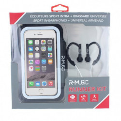 R-MUSIC Runner Kit - Ecouteurs intra-auriculaires filaires + 45549